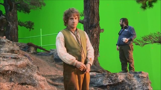 Martin Freeman'dan Hobbit setinde el hareketleri