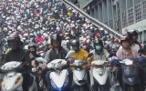 Tayvan'da İnanılmaz Motosiklet Trafiği