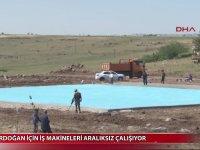 Cumhurbaşkanı Erdoğan İçin Helikopter Pisti Yapılması